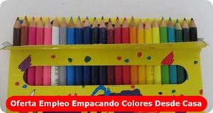 Empleo empacando colores