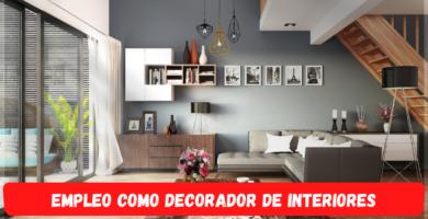 Empleo decorando interiores